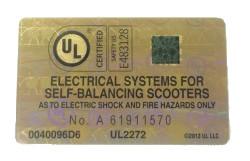 Hoverboard Zertifikat UL2272