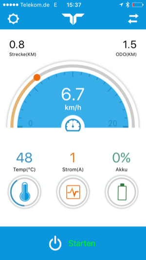Robway App Hauptbildschirm